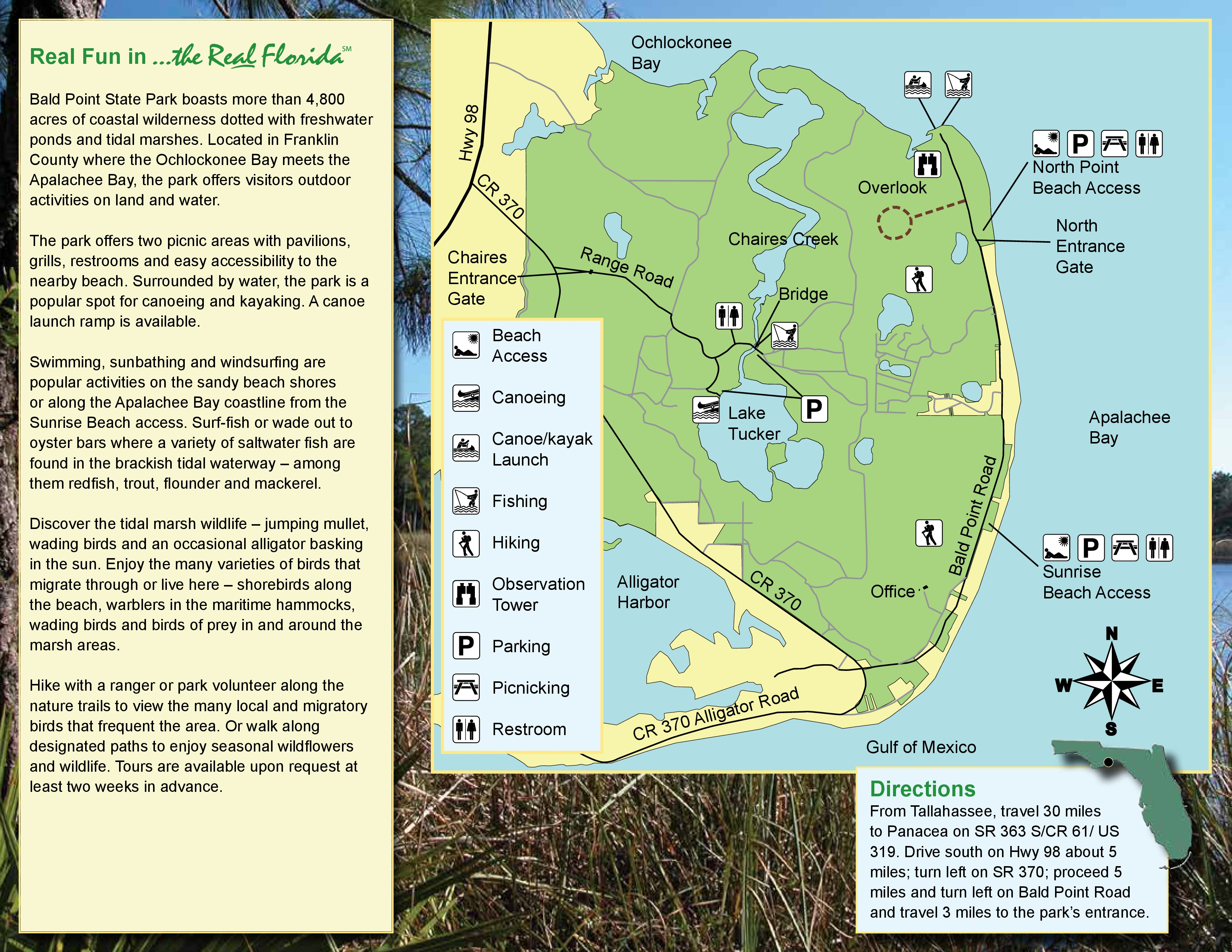 Alligator Point Florida Map.Bald Point State Park On Alligator Point Beaches Things To Do
