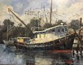 Craig Reynolds-Painting Boats in Carrabelle